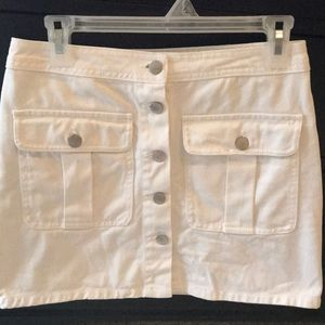 Forever 21 white denim skirt